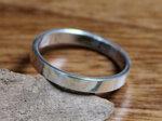 bandring 3 mm zilver