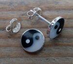 yin yang oorbellen