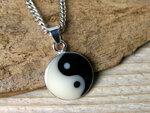 yin yang hangertje zilver