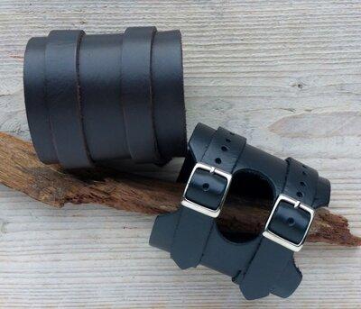 armband leder - ALW303 lengte van 19 tot 22,5 cm