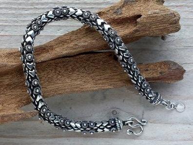 armband 'aurora'  zilver lengte 19 cm