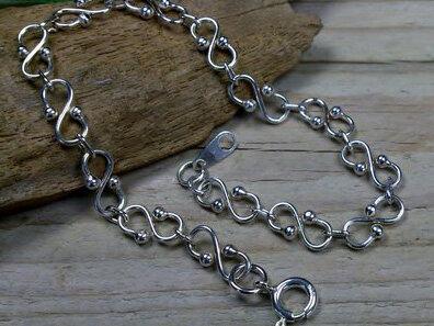 armbandje 'bow' zilver maximale lengte 20 cm