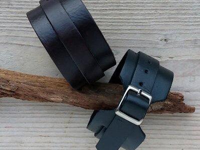 armband leder - ALW301 lengte van 17,5 tot 22,5 cm