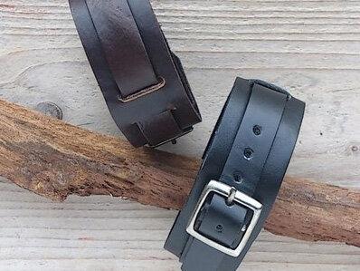armband leder - ALD201 lengte van 17,5 tot 21 cm