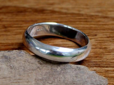 ring bol 5mm zilver (maat 22½ - 23) v.a.