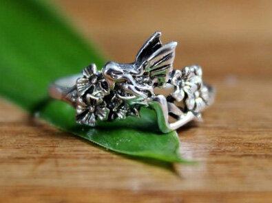 ring tinkerbel zilver (maat 18½)
