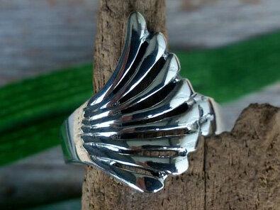 ring vleugel zilver (maat 17)