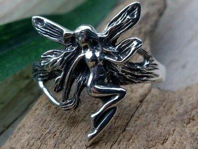 ring tinkerbel zilver (maat 17½ - 18¼ - 19)