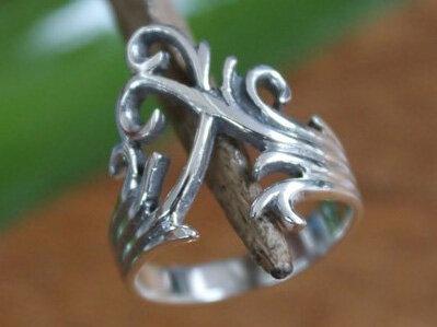 ring fantasie zilver (maat 16¼ - 17 - 17¾ - 18¼) v.a.