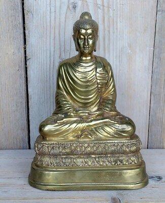Boeddha messing hoogte 22cm