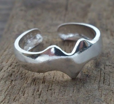 teenring zilver fantasy (begin-maat 14mm)