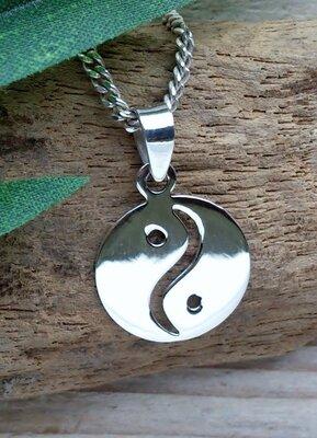 hanger yin yang zilver Ø 15mm
