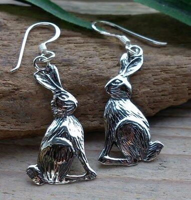 oorbellen konijn zilver