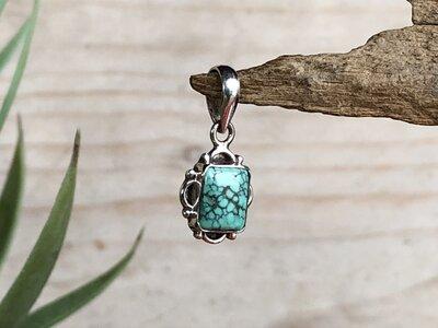 hangertje turquoise steen zilver
