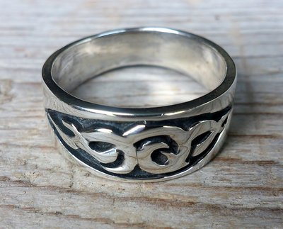 ring tribal zilver (maat 22 - 22½ - 23)