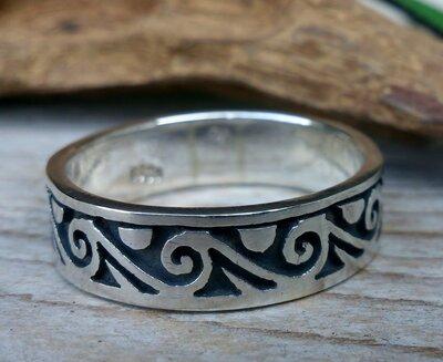 ring golven zilver
