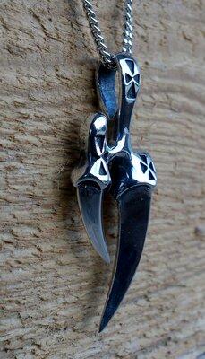 hanger klauw zilver