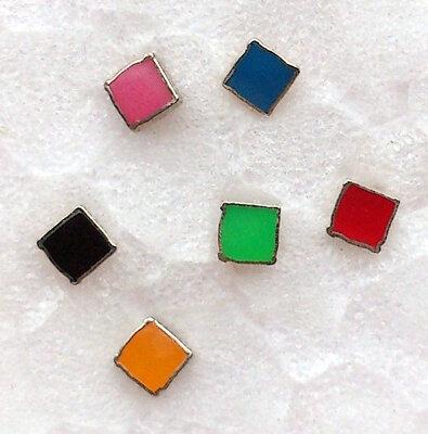oorknopjes vierkant zilver Ø 2mm kies uit 6 kleuren