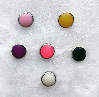 oorknopjes rondje zilver Ø 2,5mm kies uit 5 kleuren