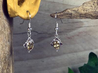 oorbellen geel zilver - HES225
