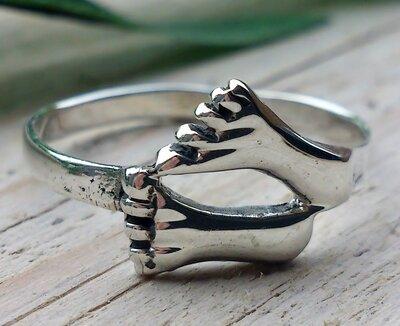 ring voetjes zilver