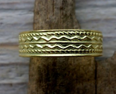 teenring goud op zilver (begin-maat 15mm)