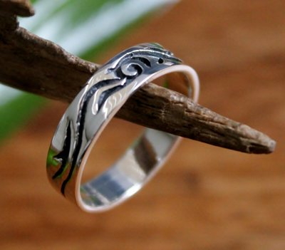 ring tribal zilver v.a.