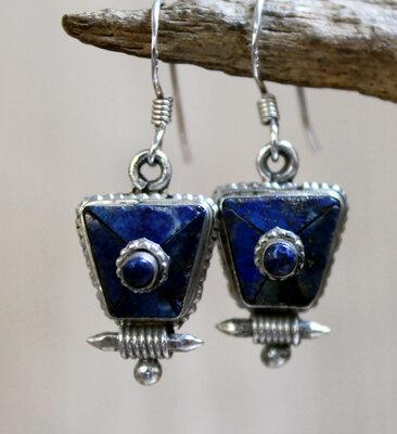 oorbellen blauw zilver