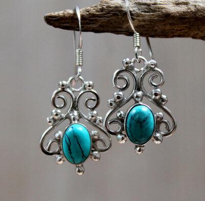 oorbellen turkoois zilver