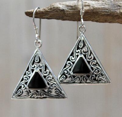 oorbellen zwart zilver