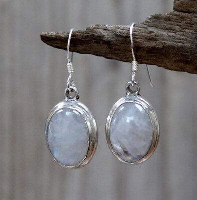 oorbellen wit zilver