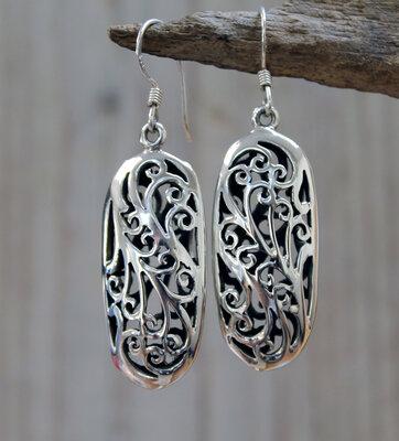 oorbellen opengewerkt zilver