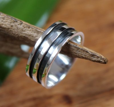 ring strak design zilver (maat 17½)