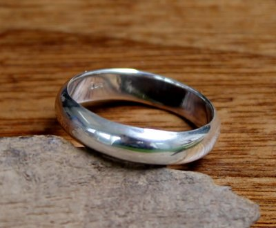 ring bol 5mm zilver (maat 15½ - 22½ - 23) v.a.