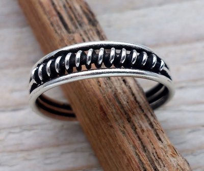 teenring zilver wrap (begin-maat 17mm)