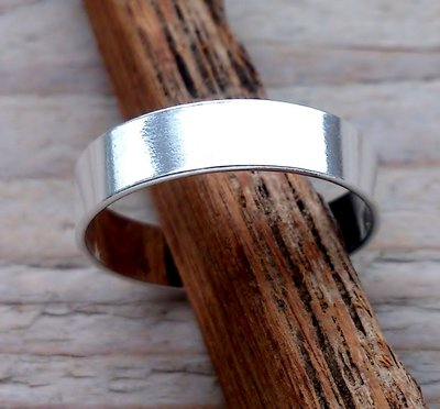 teenring zilver glad 4,3mm (begin-maat 16mm)