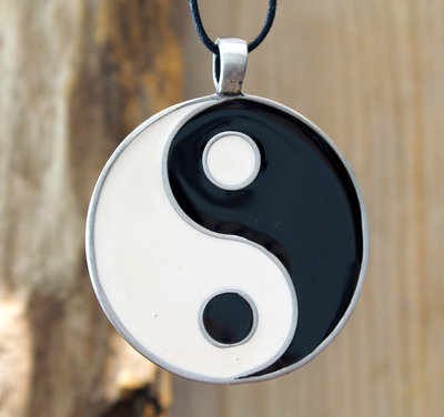 hanger yin yang tin XL Ø 50mm