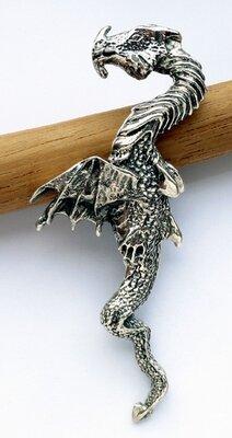 hanger draak zilver