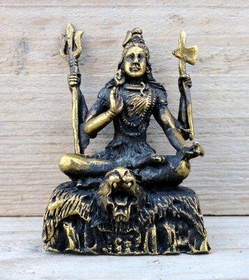 Shiva miniatuur messing 5,5 cm