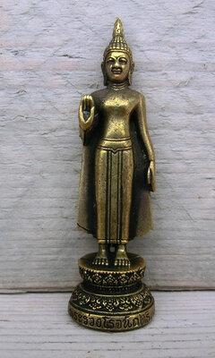 Boeddha miniatuur messing 6,8 cm