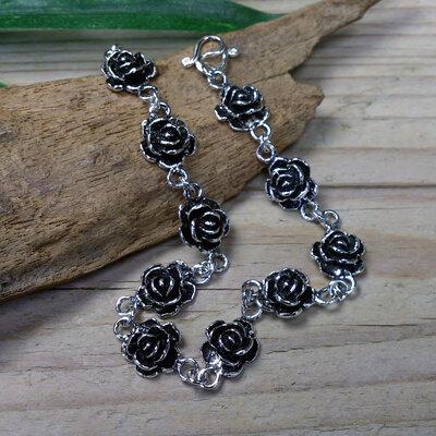 armband roosjes zilver