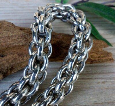 armband 'naga' zilver 20 cm