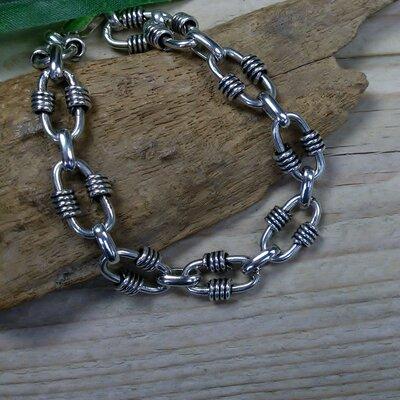 armband  schakel zilver max. lengte 18,5 cm