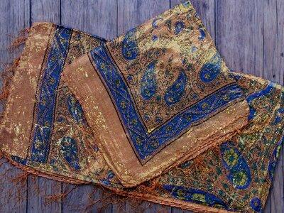sjaal -goud- oranje cashmir