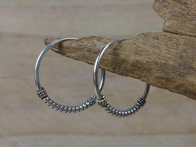 oorringen zilver 1,2 mm dik - Ø 20 mm