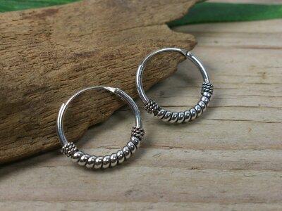 oorringetjes zilver 1,2mm dik - Ø 14mm