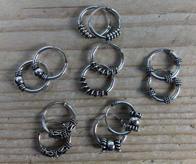 oorringetjes zilver Ø 10 mm kies uit 6 modellen