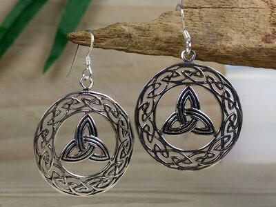 oorbellen keltische knoop zilver