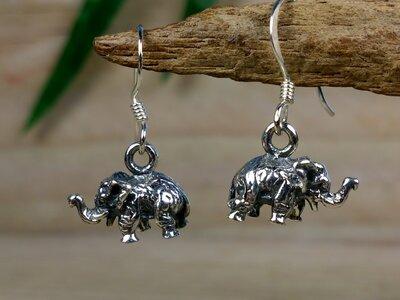 oorbellen olifantjes zilver