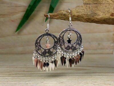 oorbellen filigrain zilver met sterretje